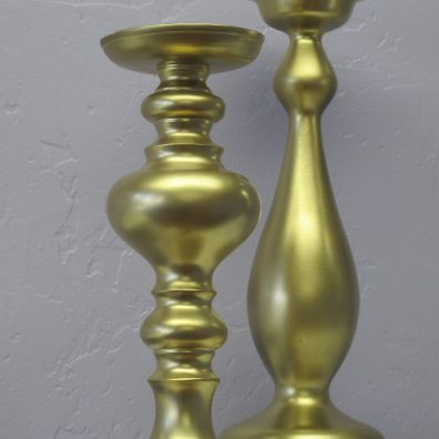 Custom Enameled Pillar Candle Holders