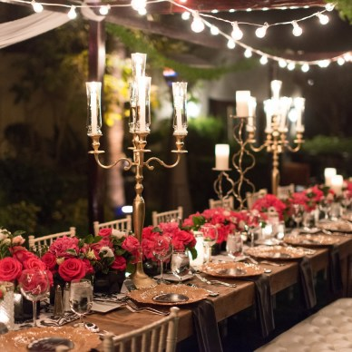 Candelabras in Silver and Gold