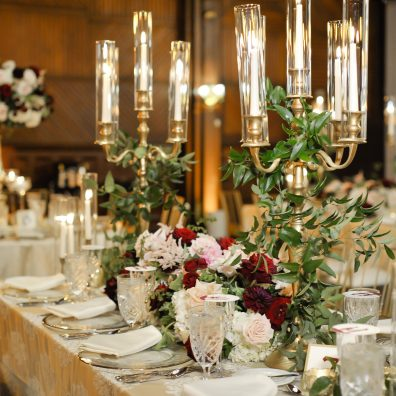 Candelabras in Gold and Silver