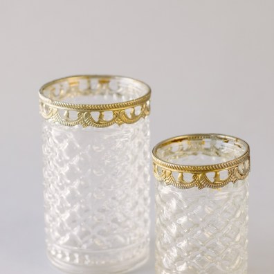 Crystal Holders with Removable Gold Trim