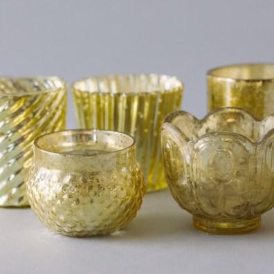 Gold Mercury Votives