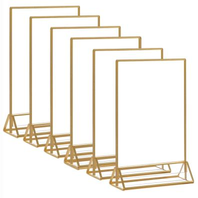 Gold and Glass Table Frames