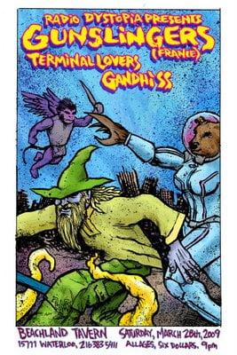 Gunslingers Poster by John G of NinePanelGrid