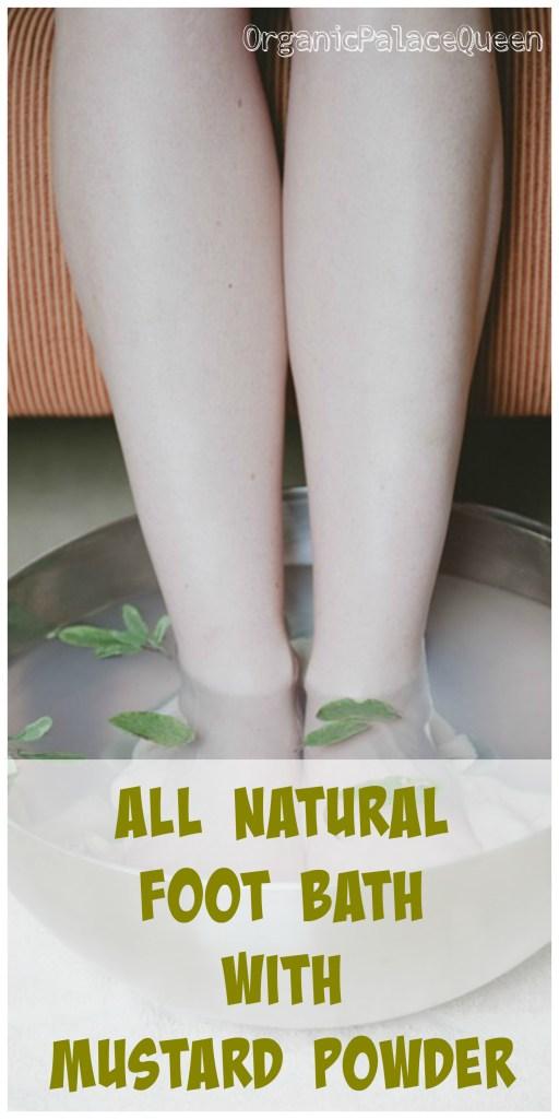 Mustard foot baths with essential oils
