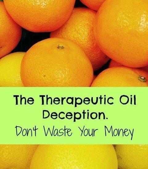 therapeutic oils vs essential oils
