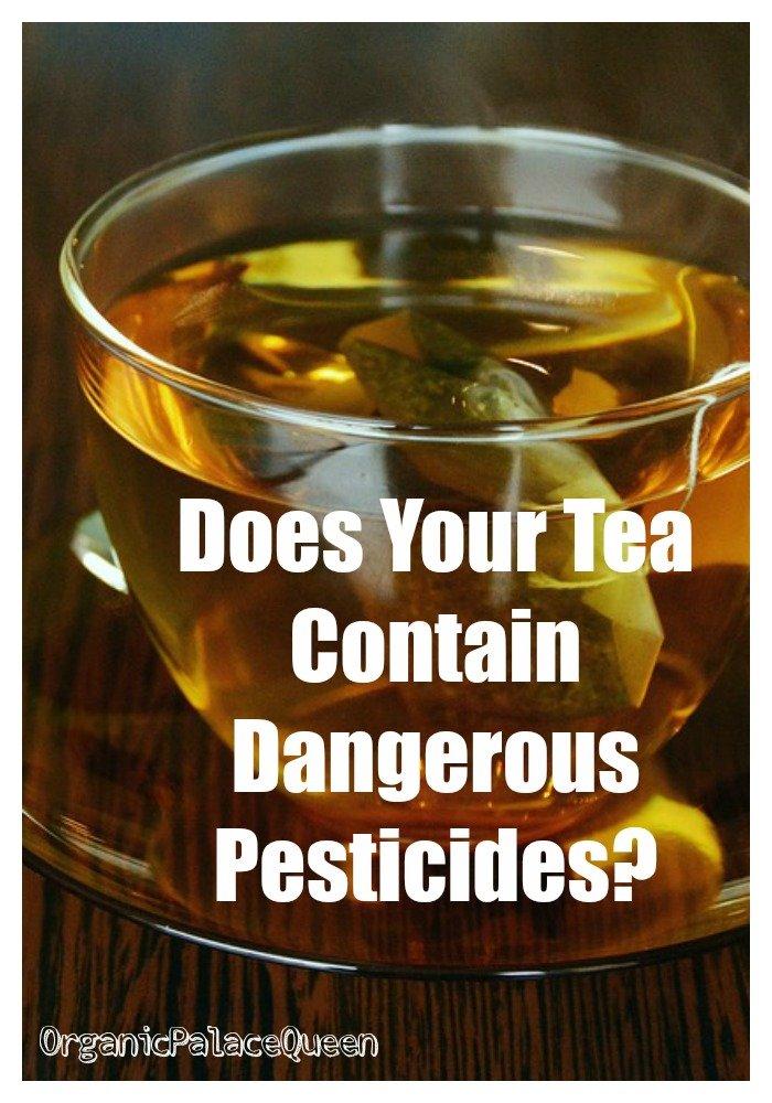 Pesticides in tea bags
