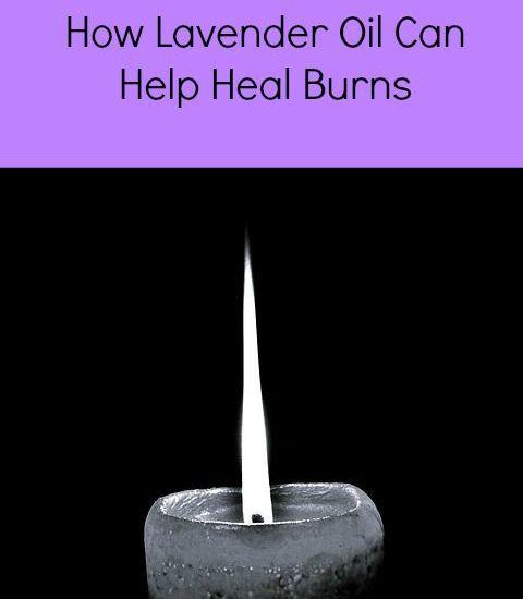 does lavender oil help burns