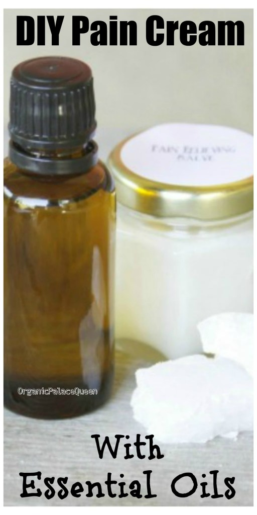 Homemade pain cream with essential oils