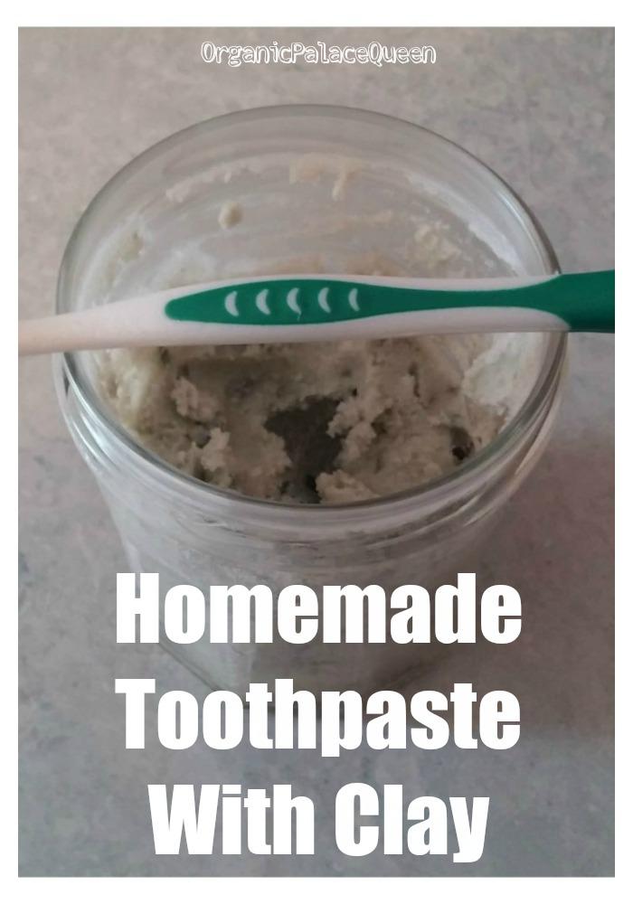 Bentonite clay coconut oil toothpaste