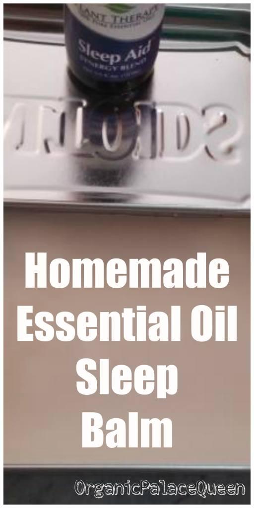 homemade essential oil sleep balm