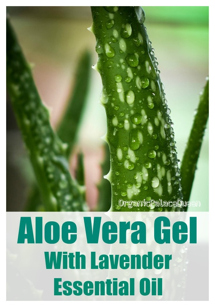 Aloe vera gel with essential oil
