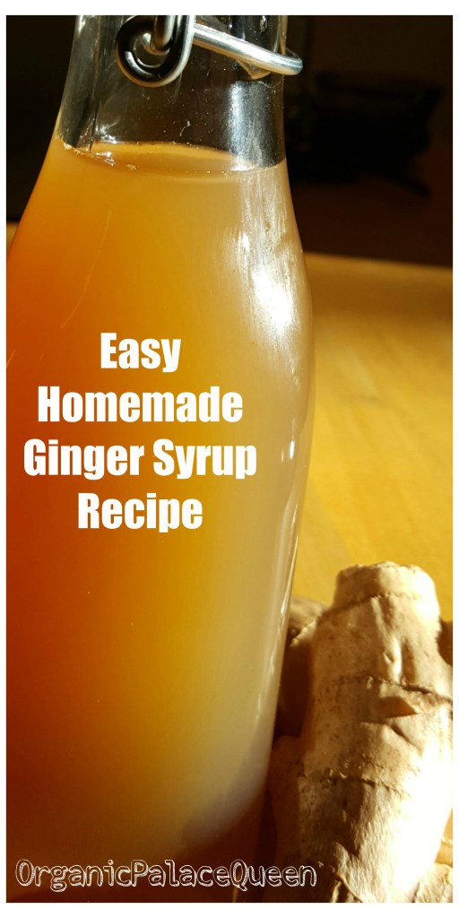 DIY medicinal ginger syrup recipe