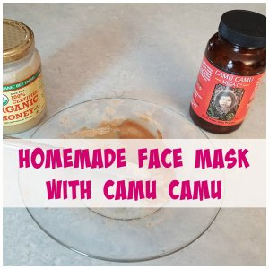 Homemade face mask with camu camu