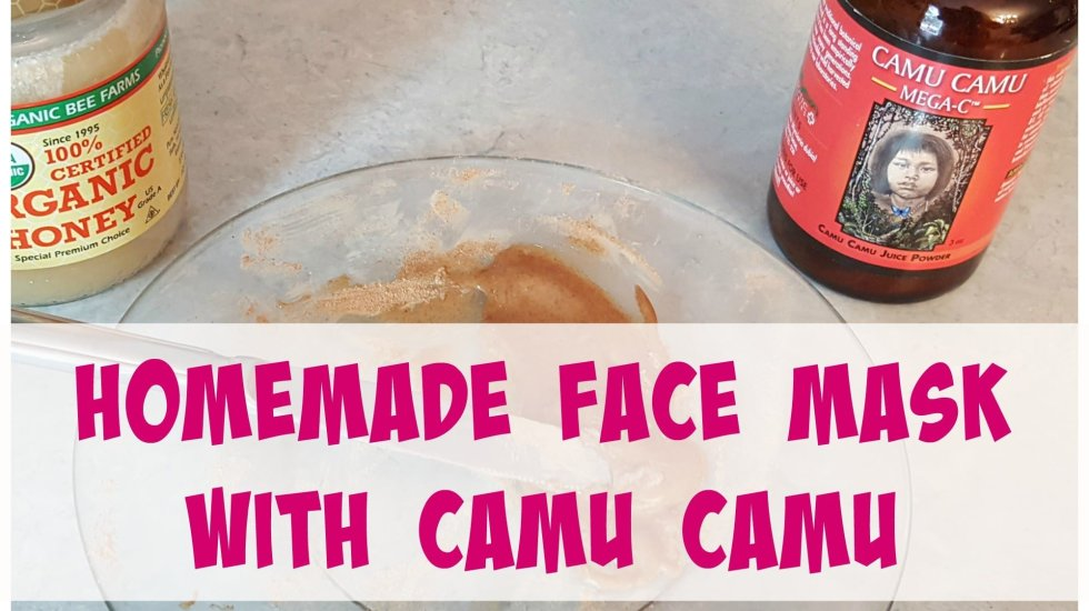 Homemade face mask with camu camu