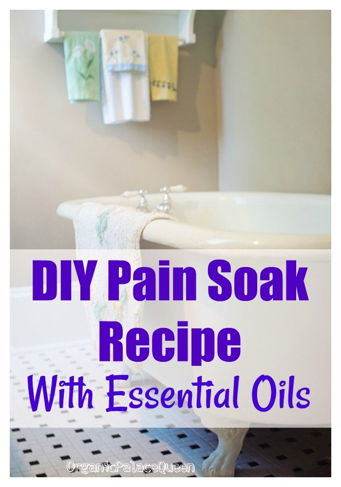 Pain relieving bath soak recipe