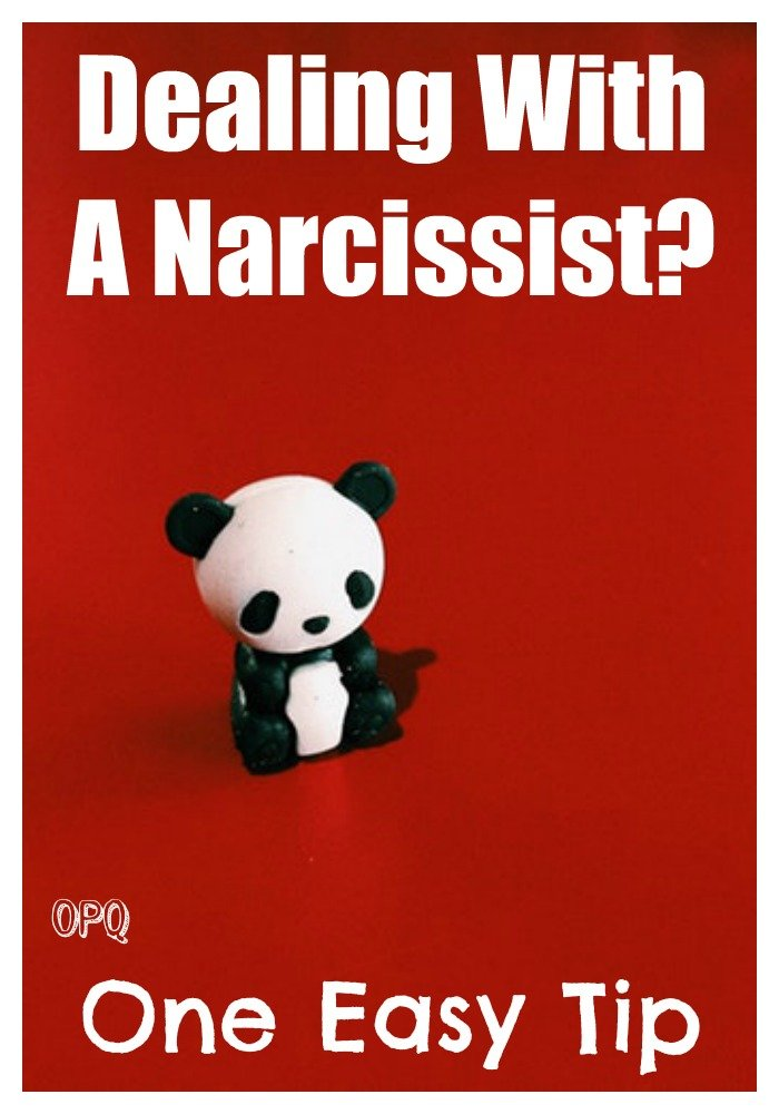 One easy way to deal with a narcissist
