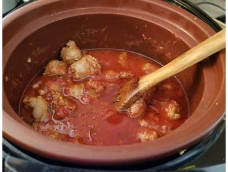 Italian sausage in a clay slow cooker recipe