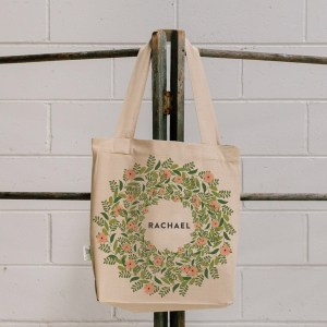 Fern Wreath Tote Bag - Bridesmaid  #FWBTB