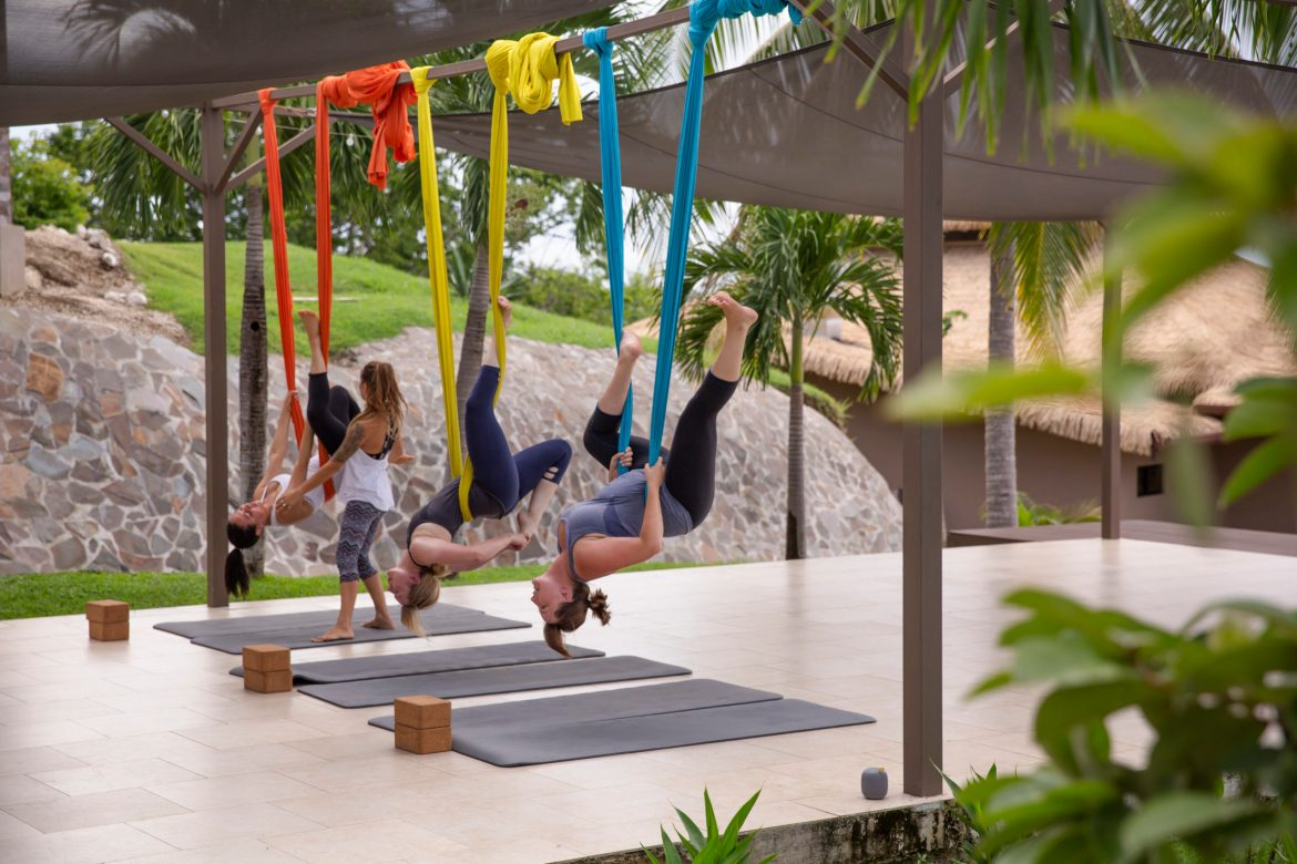 Costa Rica Playa Carrillo Hotel Aerial Yoga, Photo Courtesy of G Adventures