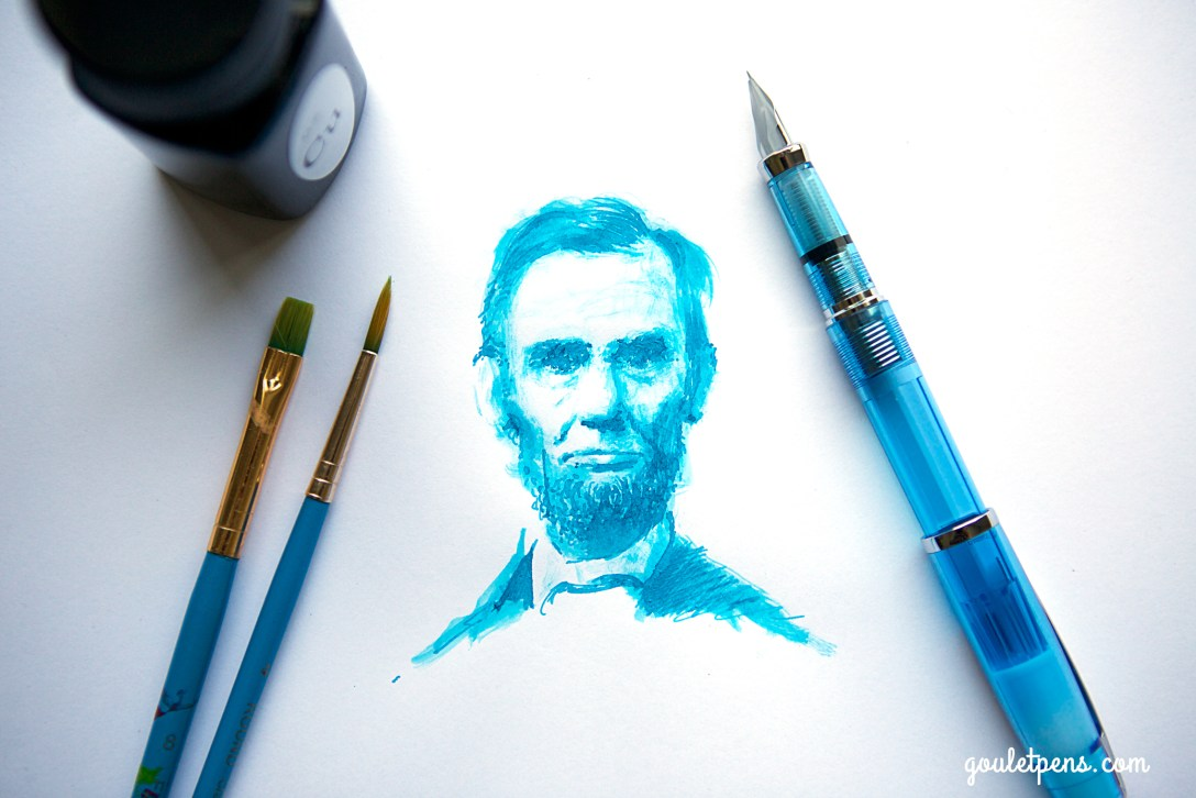 Cheers to GouletPens for the awesome Lincoln drawing with our Copper Turquoise