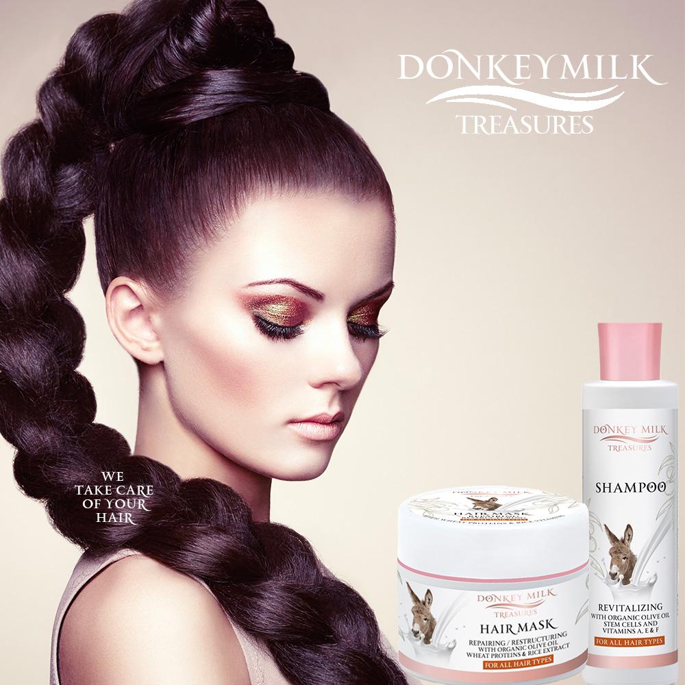 Pharmaid Donkey Milk Treasures Model Haircare