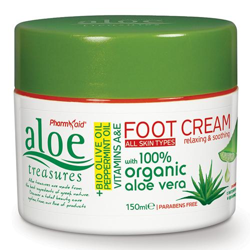 Aloe Treasures Foot Cream Olive Peppermint Oil