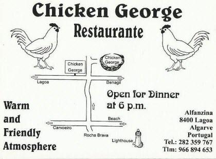 Chicken and fish restaurant near Faro, Portugal