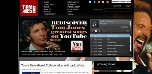 Tom Jones uses WordPress