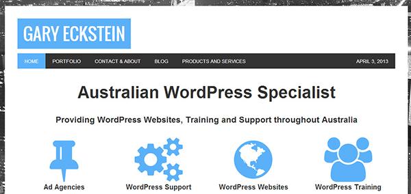 WordPress training and WordPress Website design in Australia.