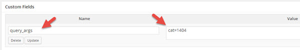 Use custom fields to show posts from a single category
