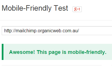 Test if Google sees your website as responsive.