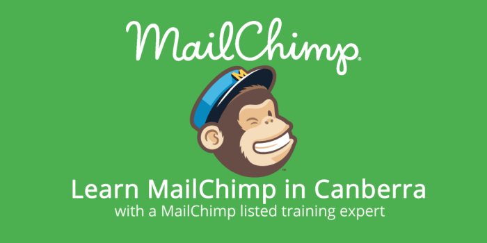 Logo of MailChimp advertising classes in Canberra.