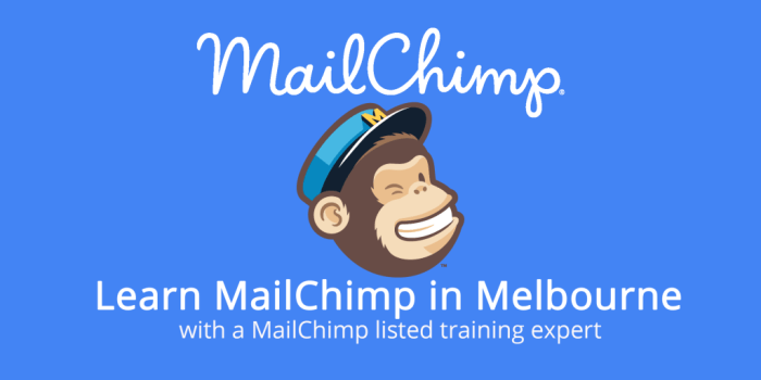 MailChimp logo with text of MailChimp classes in Melbourne