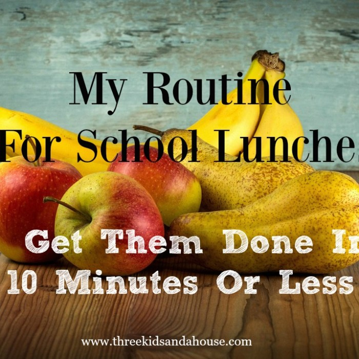 My Routine: Get School Lunches Done In 10 Minutes Or Less