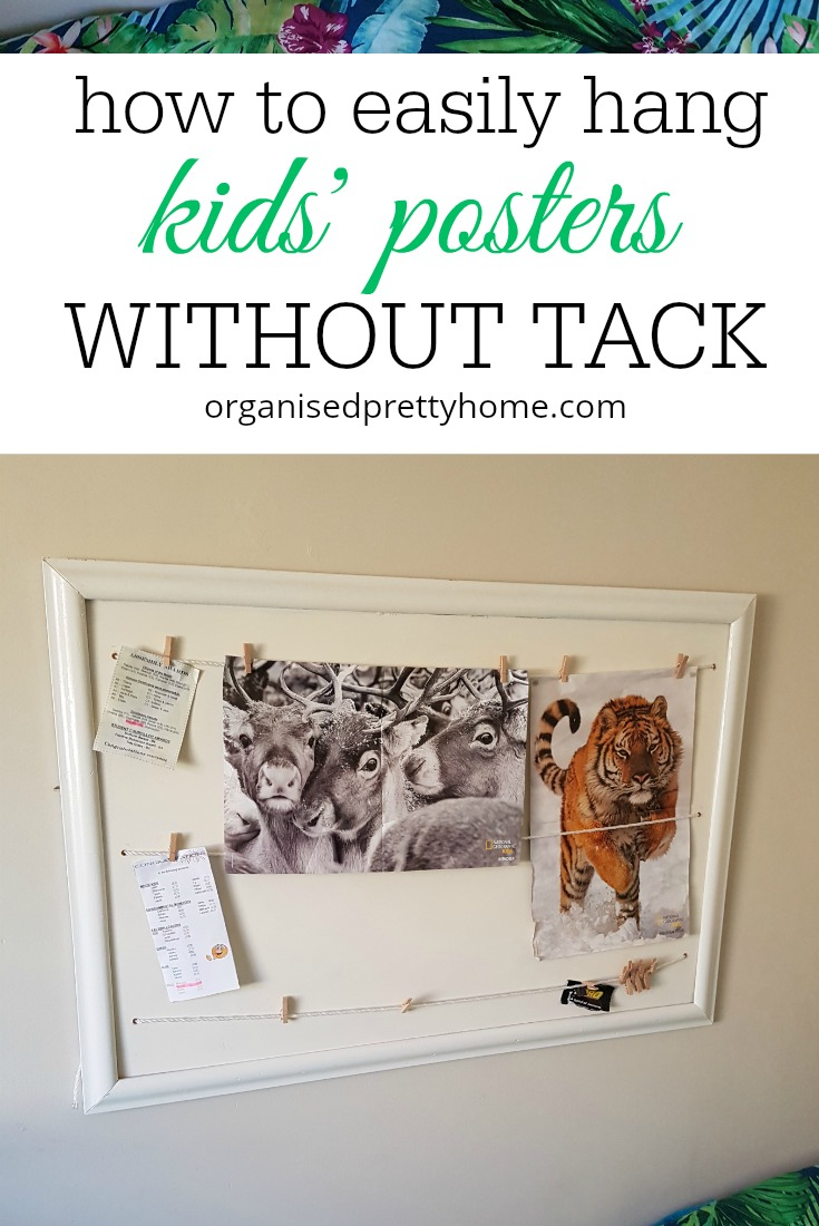 hang kids' posters without using blu-tack
