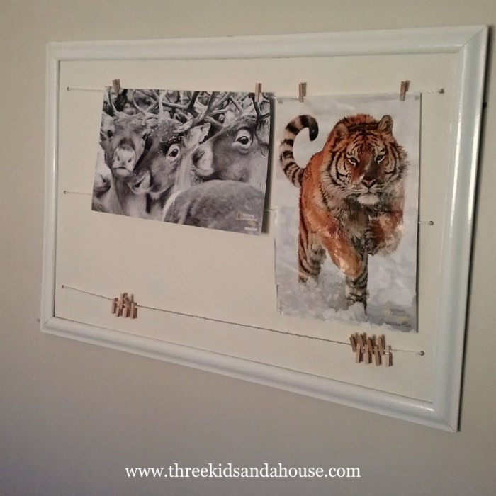 How To Hang Kids Artwork Or Posters On The Wall Without Using Blu-Tack