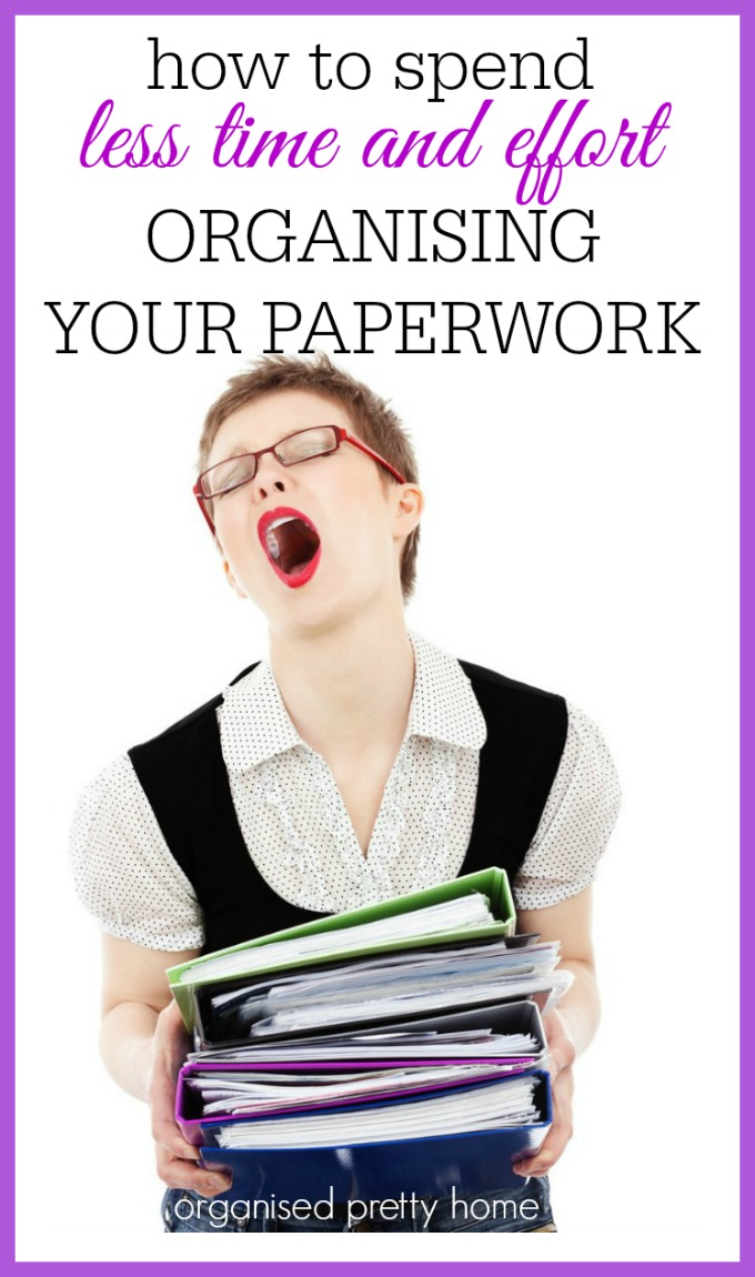 how to spend less time and effort organizing your paperwork - bill organization