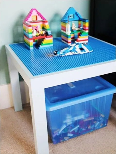 DIY lego table with an Ikea Lack Table