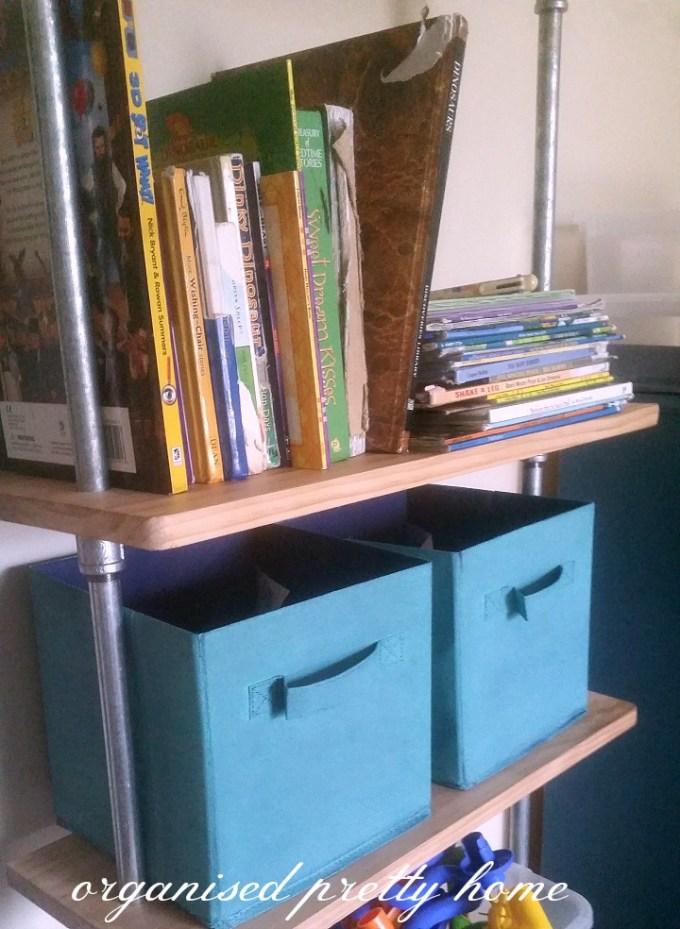 children's book storage ideas on a shelf
