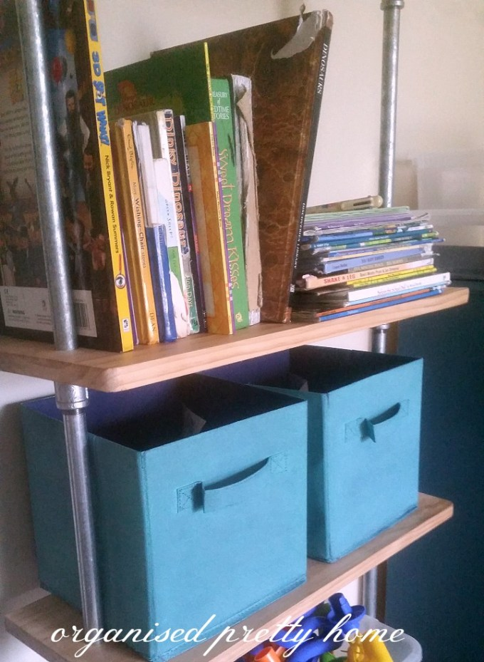 children's book storage ideas on a shelf