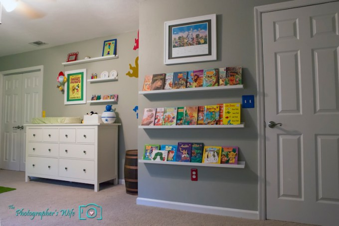 children's book storage ideas on ikea picture ledges