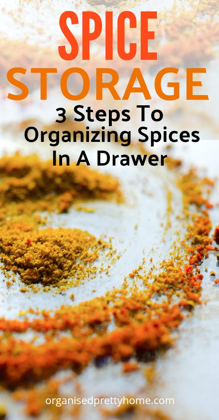 spice drawer ideas