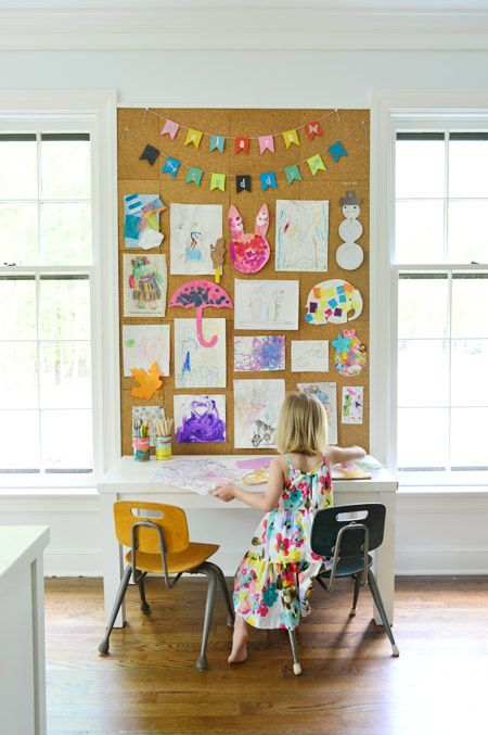 display kids' artwork