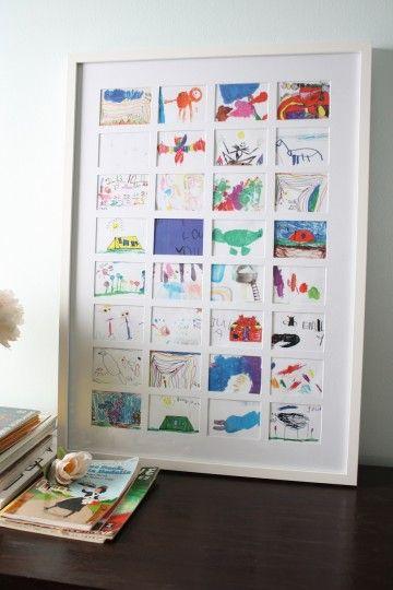 display kids' artwork