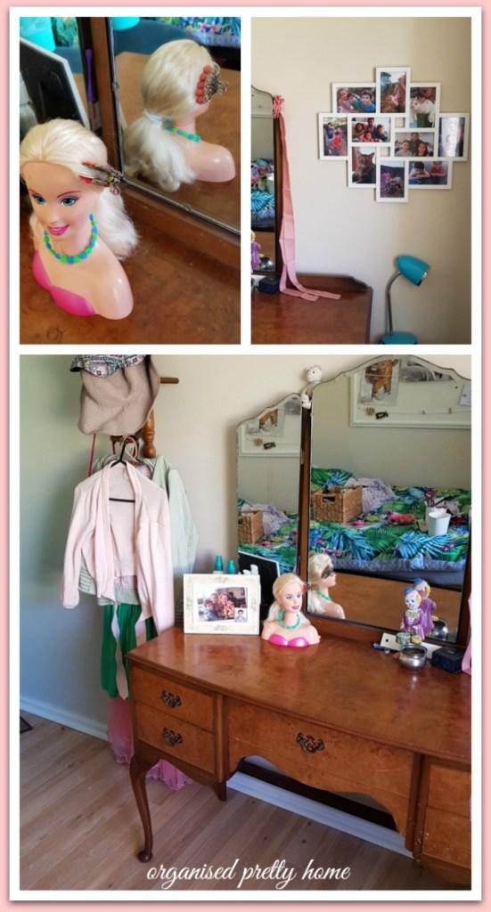 tween girl's bedroom dressing table