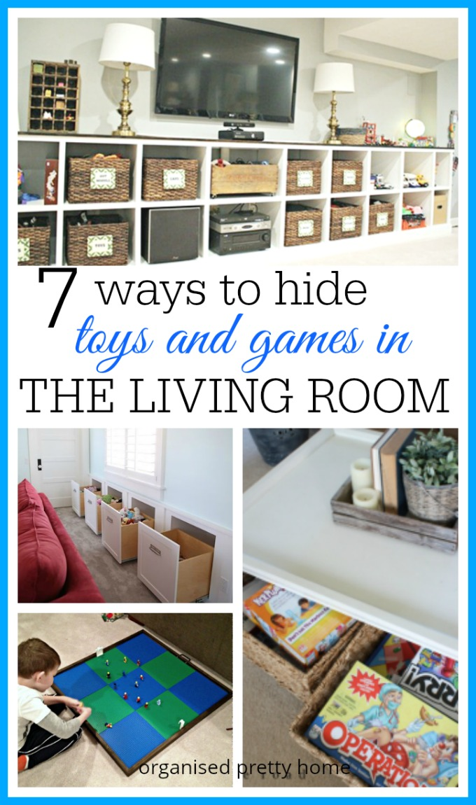 hide kids' toys in the living room