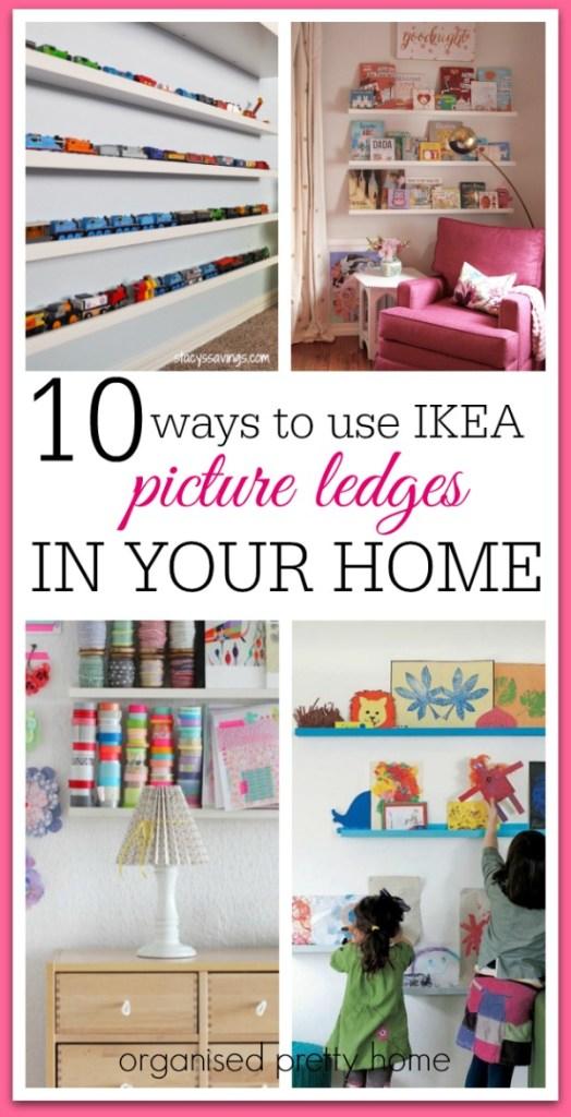 Ikea picture ledge ideas