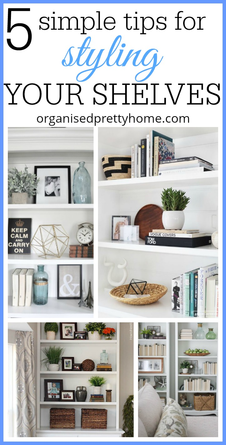styling a bookshelf - 5 simple tips
