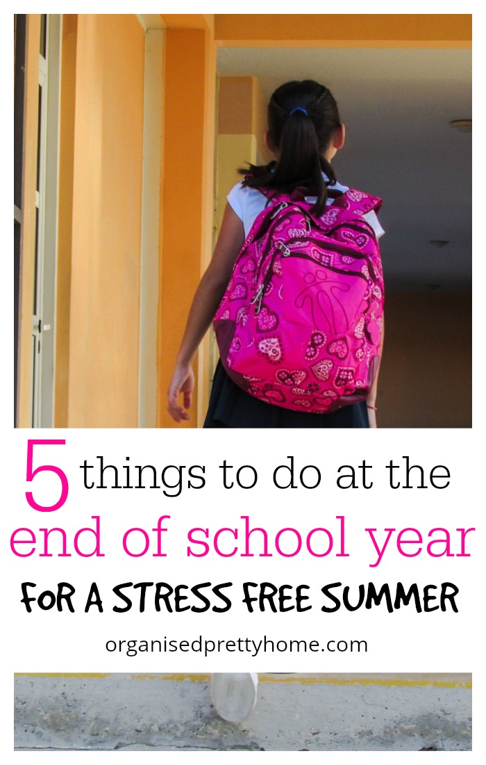 end of school year tasks