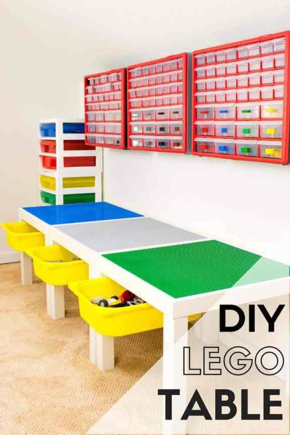 DIY lego table ideas